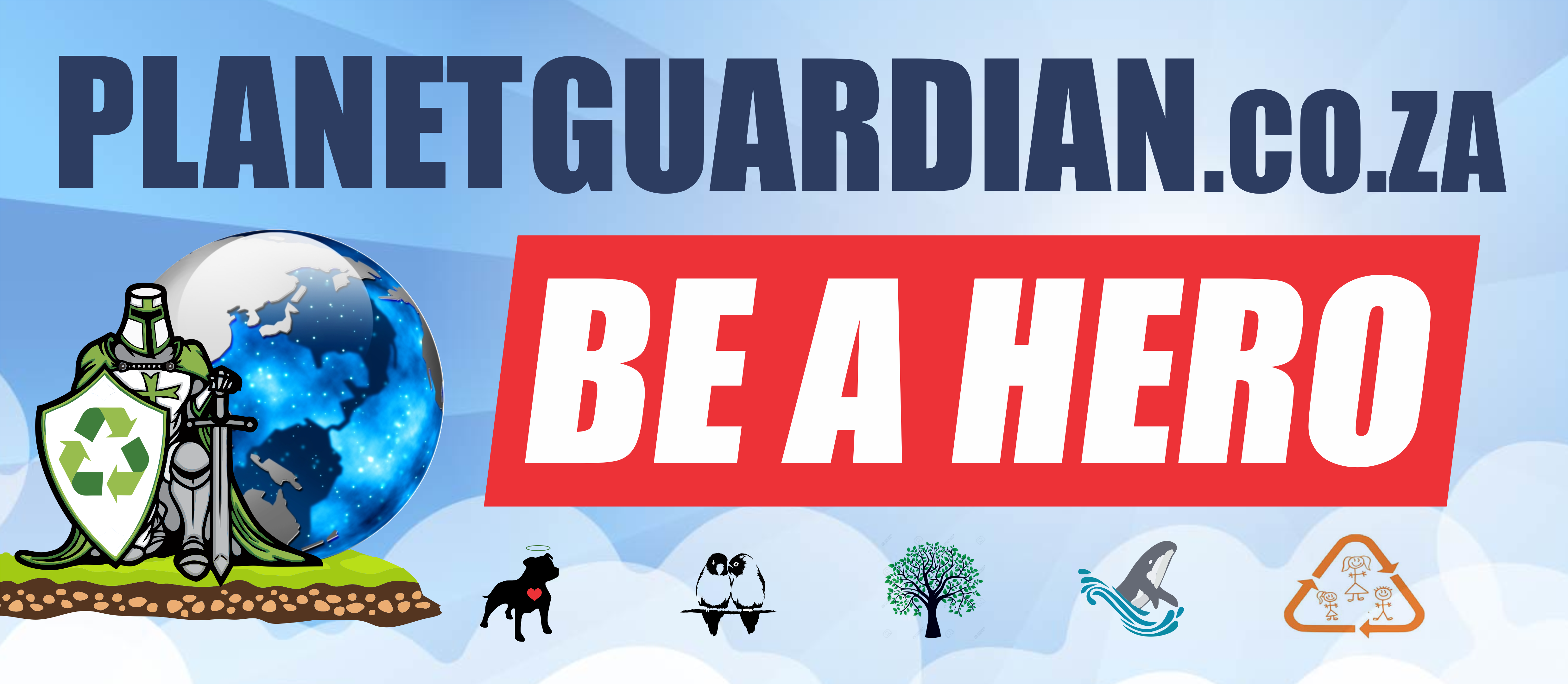 """Planet Guardian - Planet Guardian, Be a Hero residential and small commercial recycling collections in Cape Town to create jobs for commercially unemployable people to as to fight crime; stimulate the local economy and manually create Carbon Credits and Municipal Budgeted landfill airspace, to sell so as to fund animal welfare, relevant education and sports programs. Membership starts at R100/month for the free collection of 1 bag of clean, mixed recycling, community donations and electrical discards per week. (Constitutionally protected """"Dry property waste"""" which allows us to manifest our Rights to Human Dignity, safety from government induced violence; to a clean, livable and safe community, suitable for the raising of our children.,"""